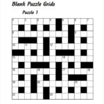 10 Blank Crossword Templates Sample Templates
