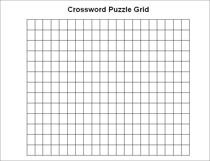 15 Blank Crossword Templates Downland Free Word