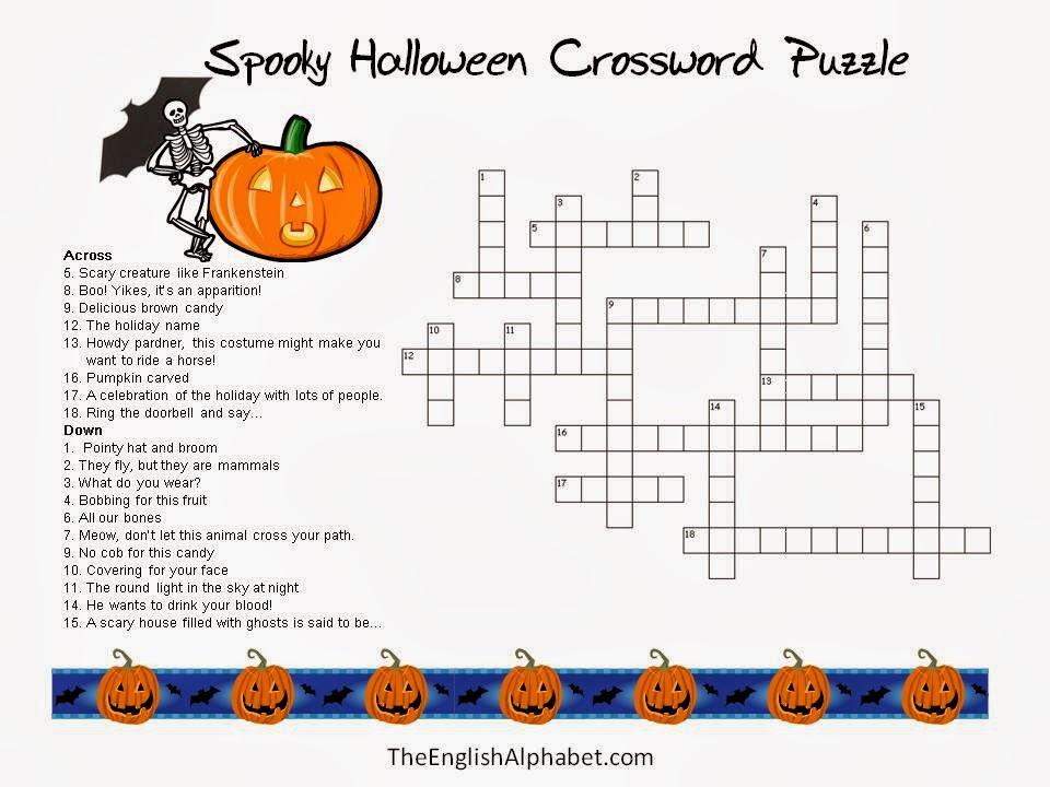 5 New Halloween Crossword Puzzles Printable Easy