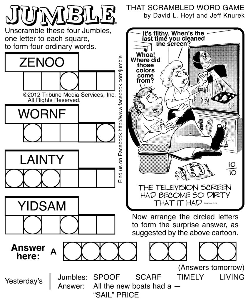 7 Best Images Of Printable Jumble Word Puzzles Coping