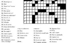 Beekeeper Crosswords Printable Crossword 4 Printable