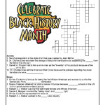 Black History Month Crossword Puzzle Worksheet Woo Jr