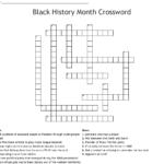 Black History Month Crossword Puzzles Printable