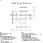 Bridal Shower Crossword WordMint