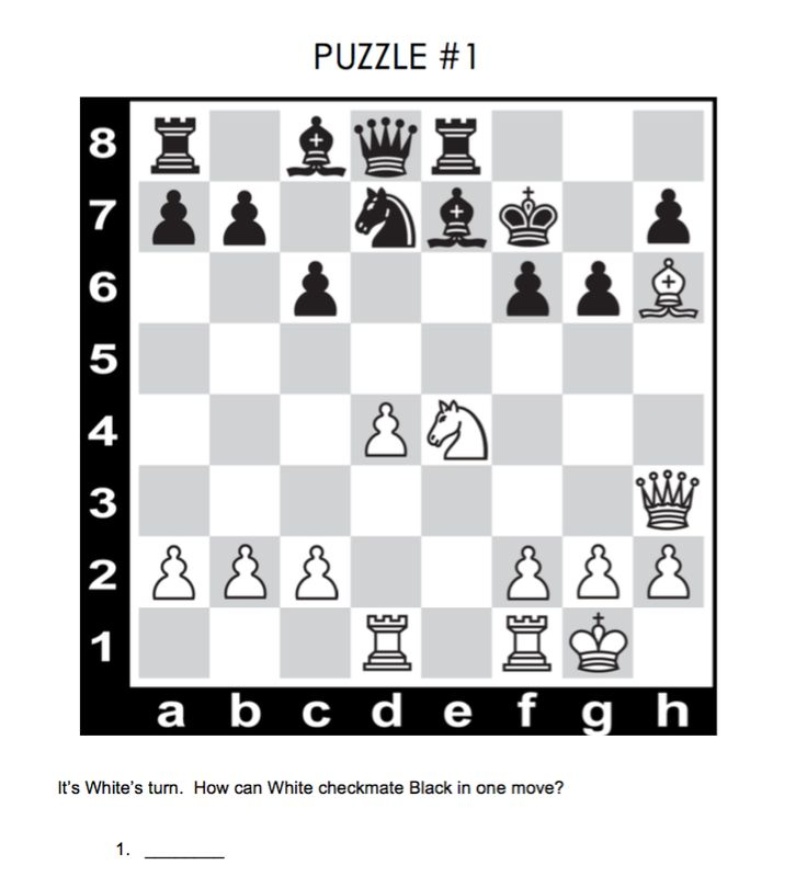 Chess Puzzle For Kids With Answer Chess Puzzles Chess