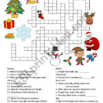 Christmas Crossword ESL Worksheet By Annblake