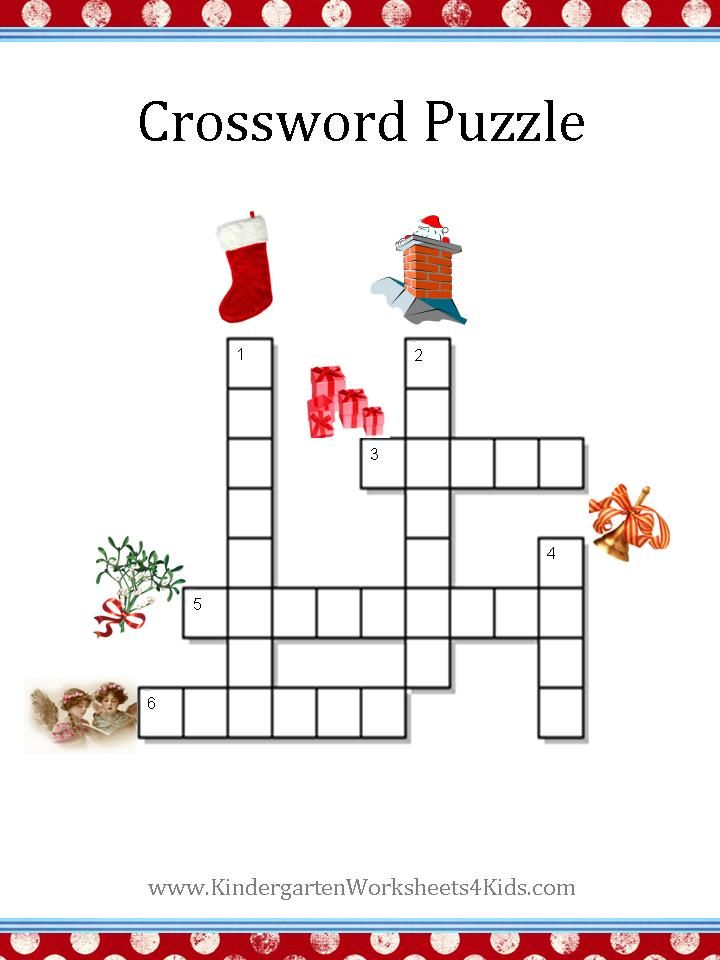 Christmas Crossword Puzzles For Kids Free Printable