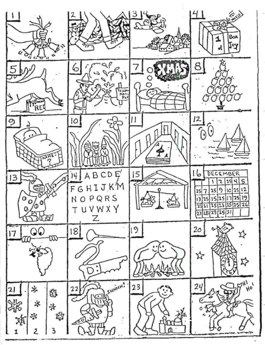 Free Printable Christmas Carol Puzzles