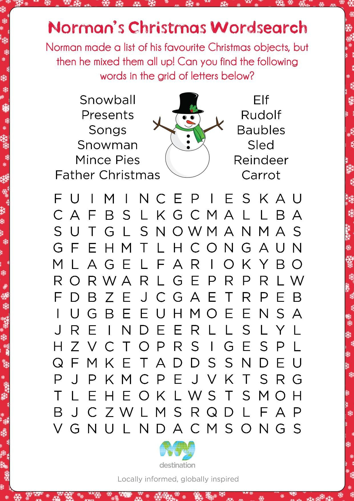 Printable Christmas Puzzles Free