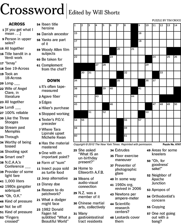 Creating Crosswords For The New York Times UConn Today