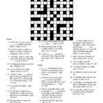Crossword Puzzle Easy Printable Puzzles For Seniors