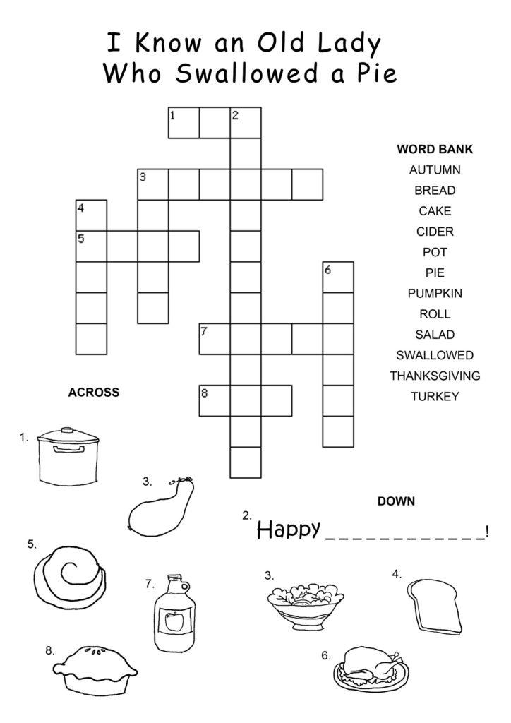 Crossword Puzzle Kids Activity Shelter