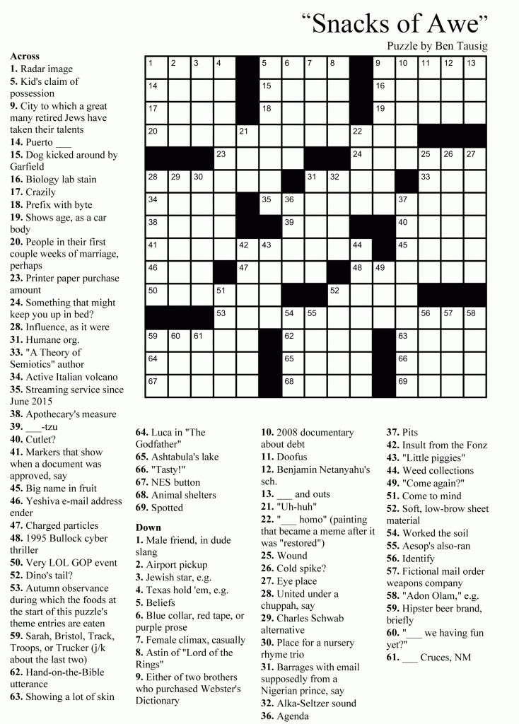 Crossword Puzzles For Adults Em 2020