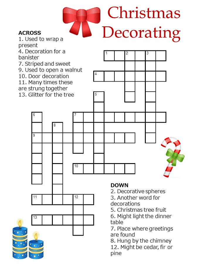 Crossword Puzzles For Children Activity Shelter