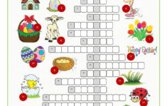 Easter Crossword Puzzle English ESL Worksheets For