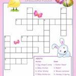 Easter Crossword Puzzle For Kids Easter Easter