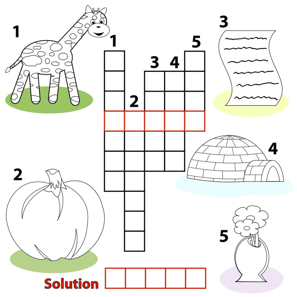 Easy Crosswords Puzzles For Kids Activity Shelter