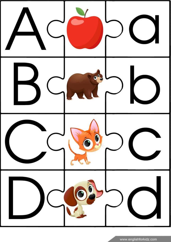 English Alphabet Puzzle ESL Game For Children ESL