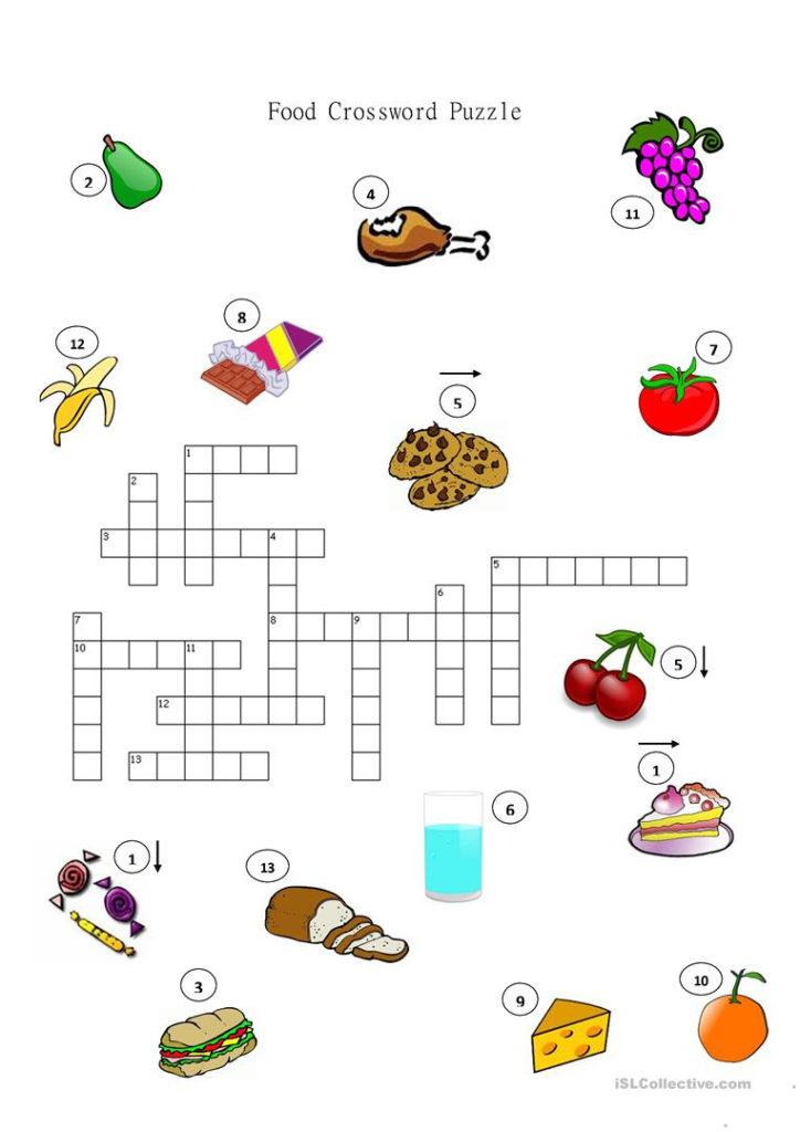 Food Drinks And Groceries Crosswords Worksheet Free Esl