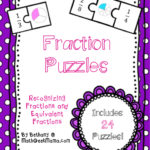 Fraction Math Puzzles Printable Teach Junkie
