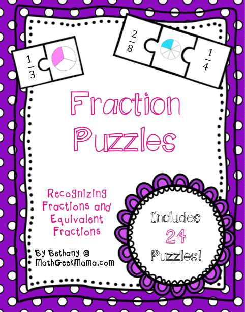 Fraction Math Puzzles Printable Teach Junkie