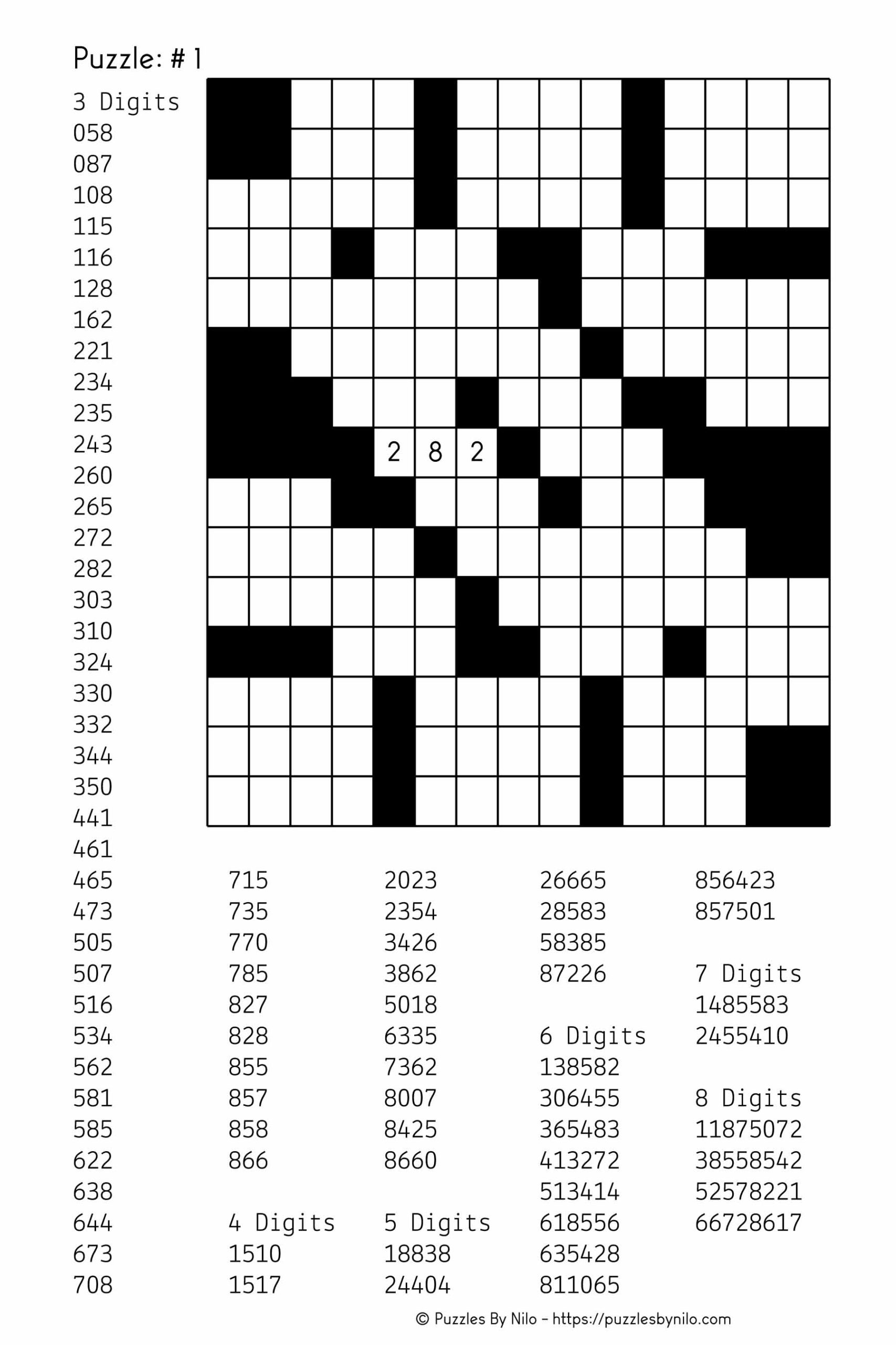Fill It Ins Puzzles Printable Free
