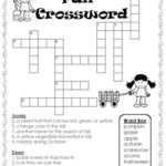 FREE Fall Crossword Puzzle By Teaching Simply TpT