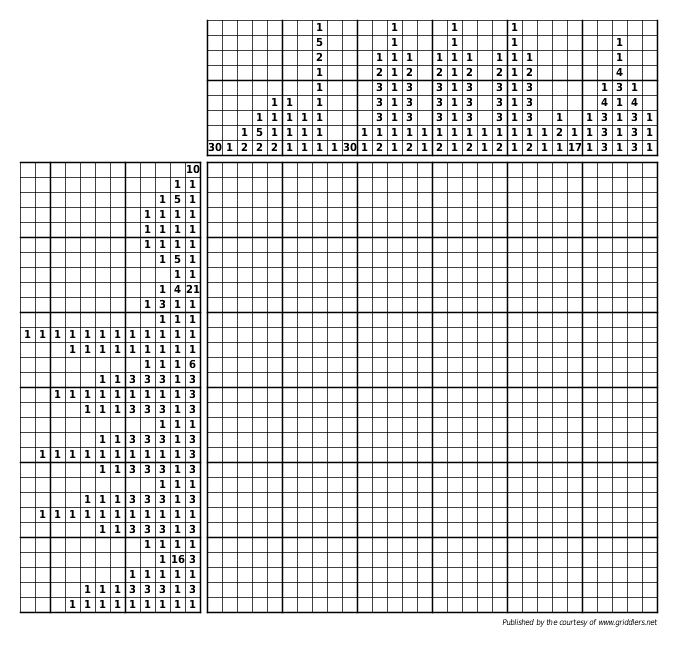 Free Griddlers Picture Puzzles Griddlers Logic