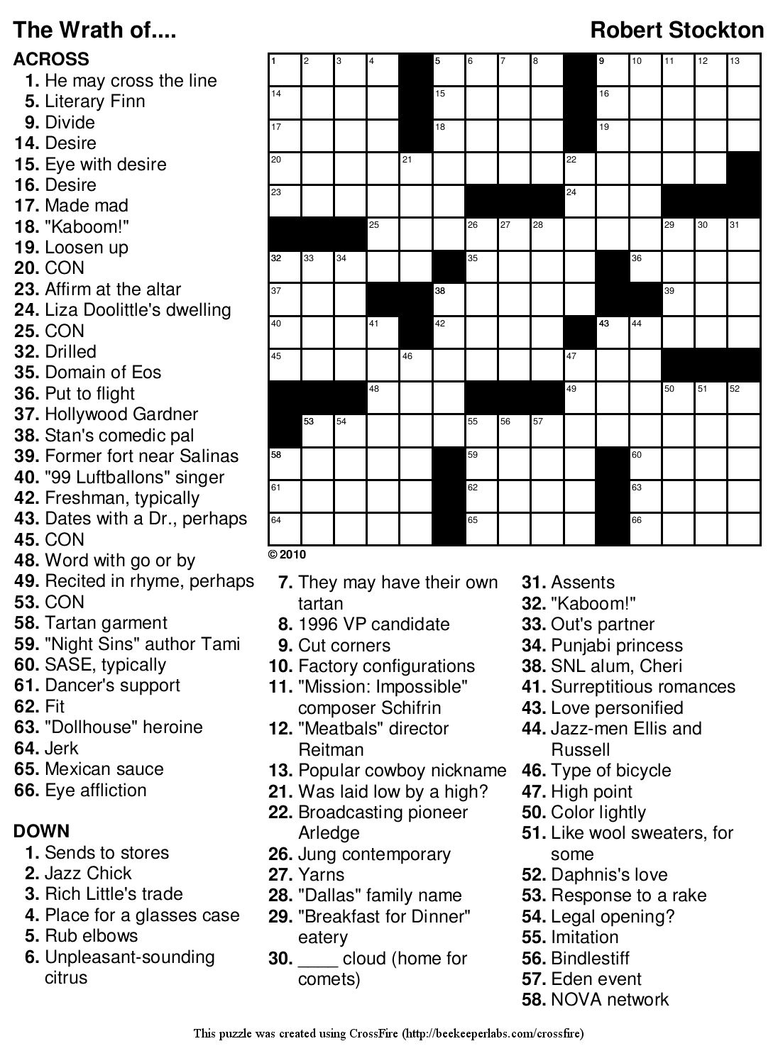 Free Printable Bible Crossword Puzzles