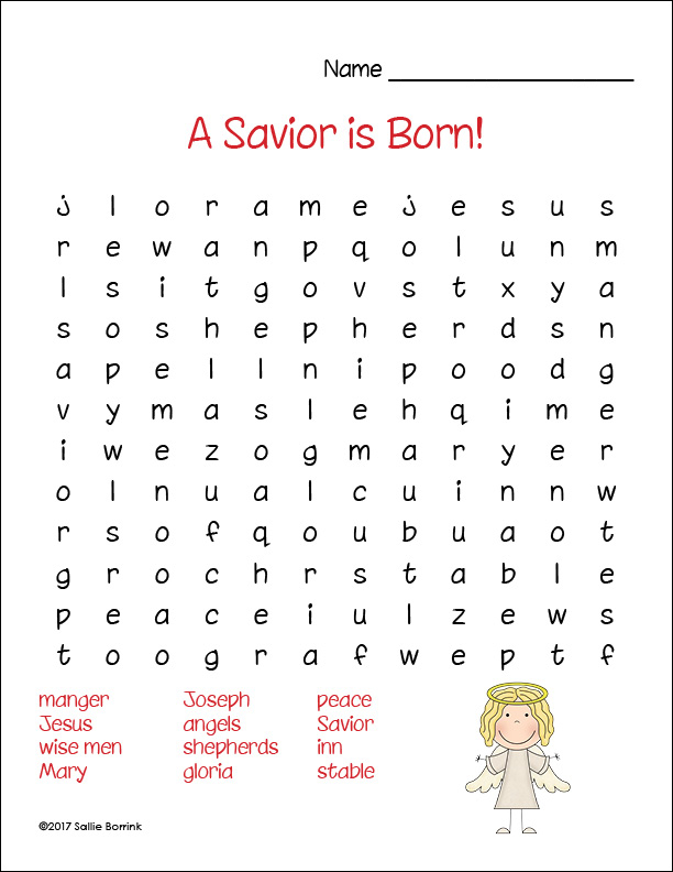 Free Printable Christmas Word Searches A Quiet Simple