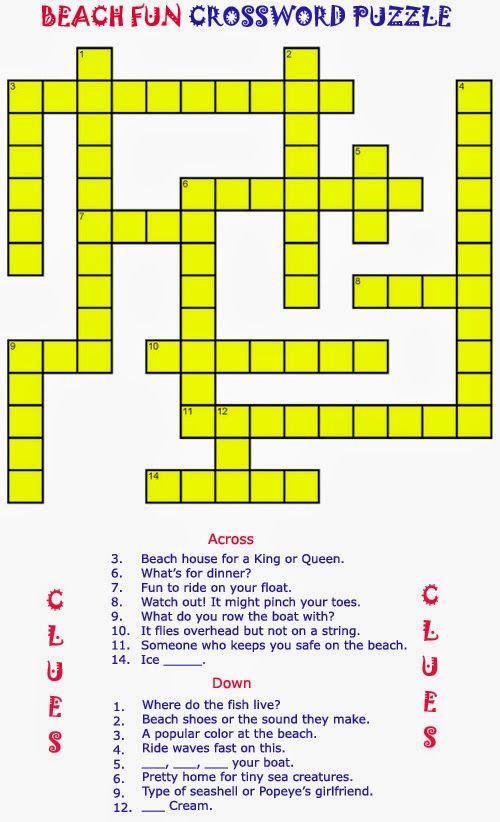 Free Printable Crossword Puzzles Elder Care Dementia