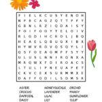 Free Printable Flower Word Search Flower Words
