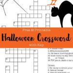 Free Printable Halloween Crossword Puzzle With Key