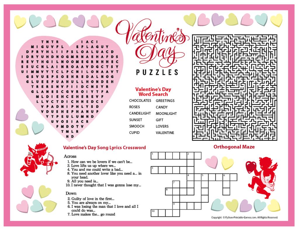 Free Printable Valentine S Day Puzzles Valentines