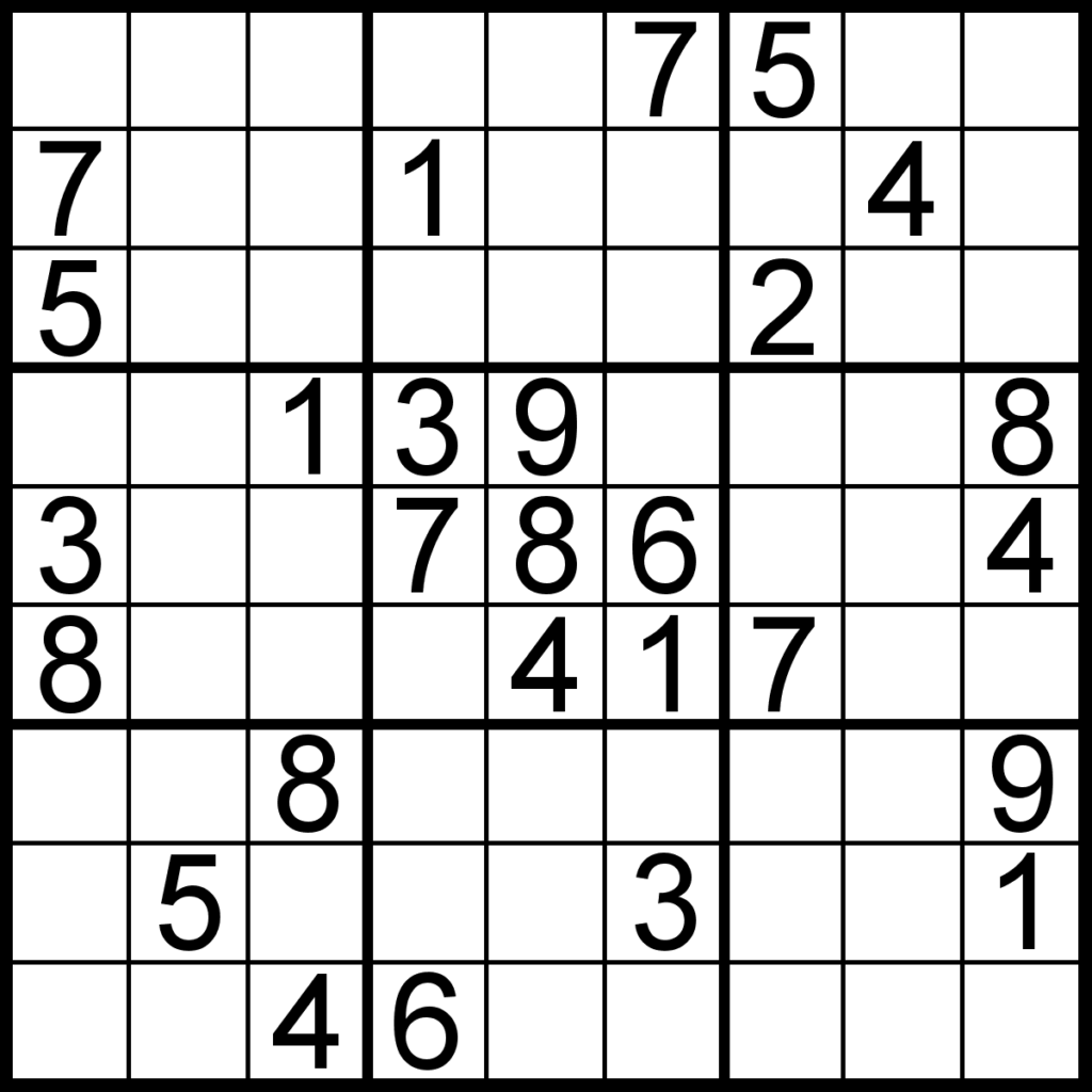 Free Sudoku For Your Local Publications Sudoku Of The Day