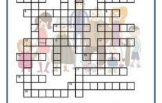 French Family Crossword Printable Vocabulary Builder