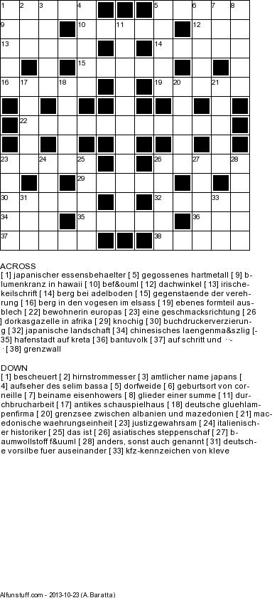 German Crossword Puzzles Printable German Word Games