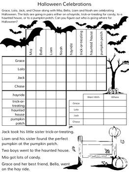 Halloween Logic Puzzles 5 Puzzles No Prep By Secret