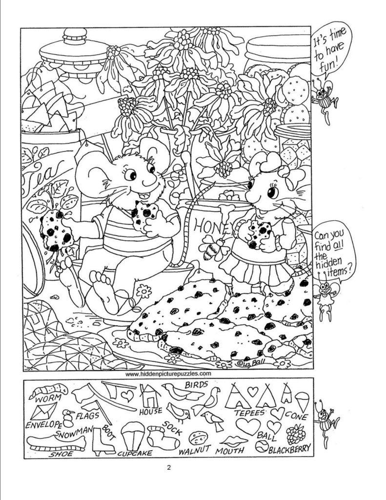 Hidden Picture Puzzles By Liz Hidden Picture Puzzles