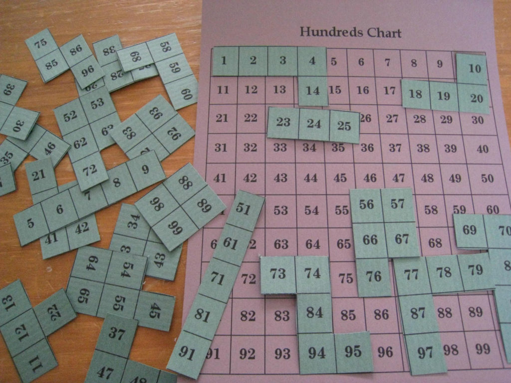Hundred Chart Math Puzzle Teach Beside Me