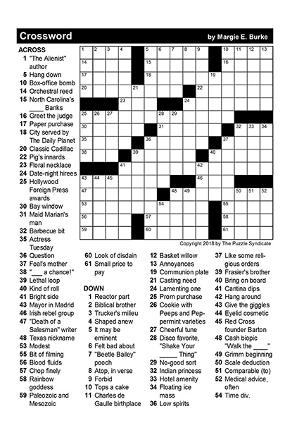 January Puzzles And Answer Keys TheBurg