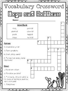 Journeys 3rd Grade Unit 3 Vocabulary Crossword Puzzles
