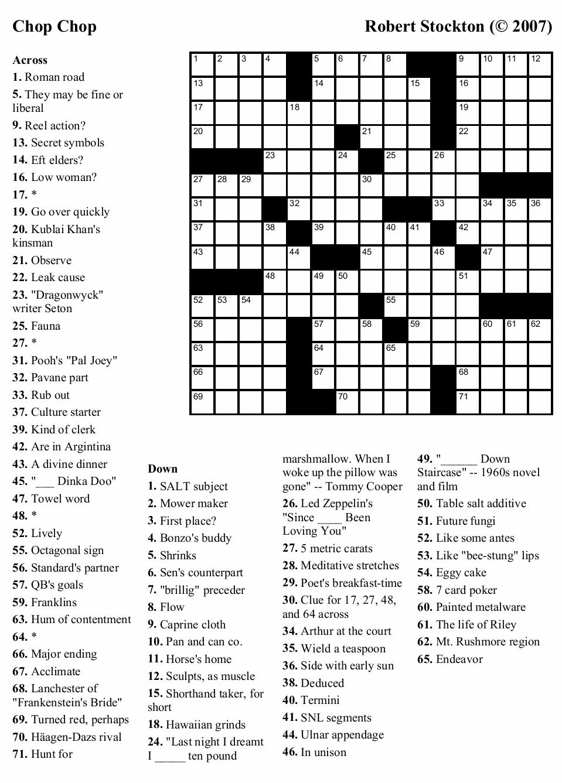 Large Print Crosswords Printable Free
