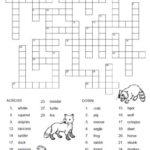Los Animales Spanish Crossword Puzzle Worksheet FREE