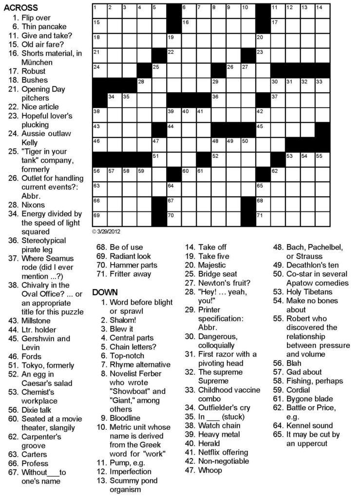 Love Love Love Crossword