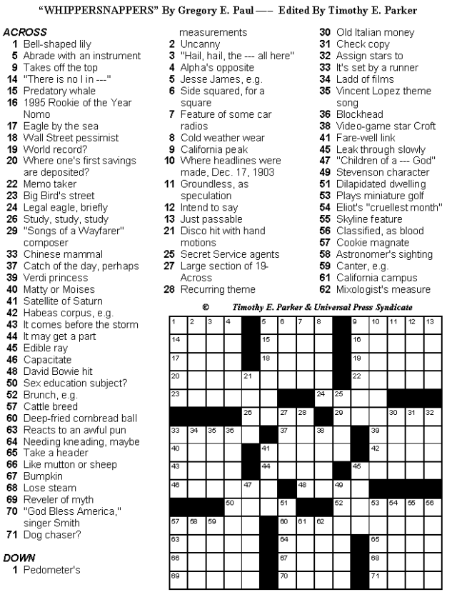 Free Printable Crossword Puzzles Medium Difficulty With Answers