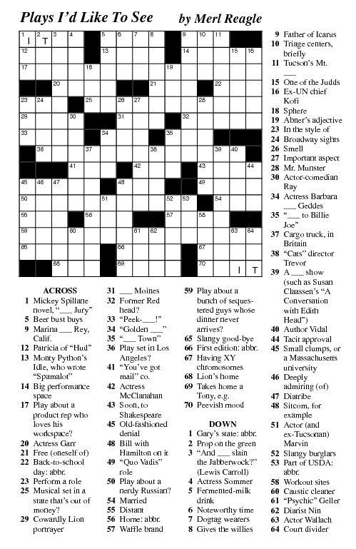Merl Reagle S Crossword Puzzle