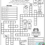 Multiplication Facts Crossword Puzzle Third Grade