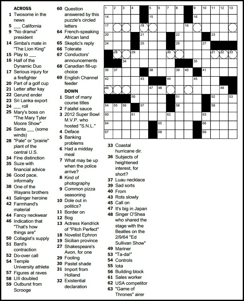Ny Times Crossword Puzzle Stepindance Fr
