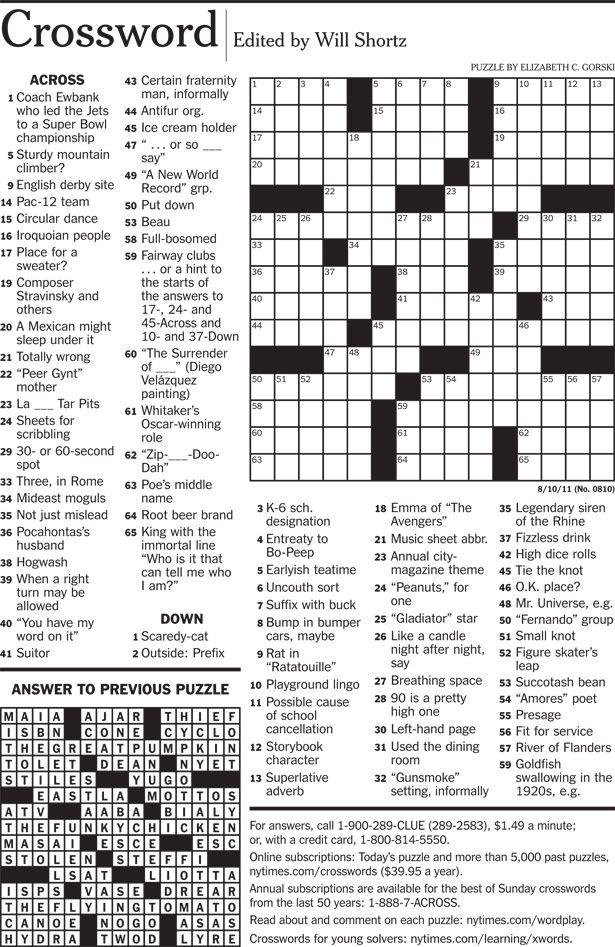 NYTimes Crosswords Crossword Crossword Puzzles